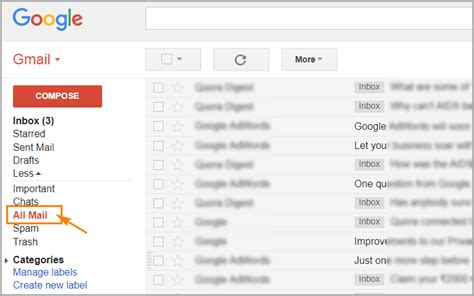 how to view archived emails gmail