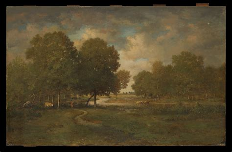 theodore rousseau  river   meadow  met