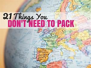 Things You Don't Need on Your Packing List | Croatia ...