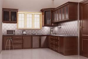 Evens construction pvt ltd kitchen design with wooden for Interior design for kitchen in kerala