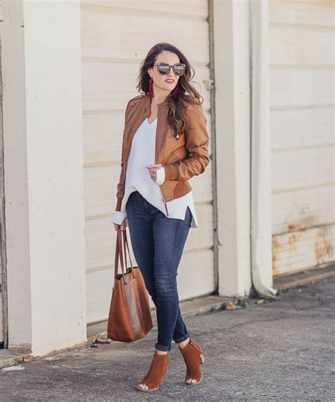 How to Wear Leather for Spring - Peaches In A Pod blog