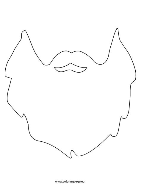 Coloring Templates Printable by Beard Template Coloring Page