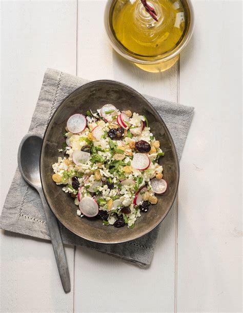 cuisine chou fleur taboulé de chou fleur et radis pour 4 personnes recettes