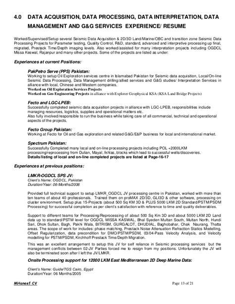 drilling optimization engineer resume mhaneef cv