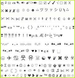 Facebook Symbols Copy and Paste