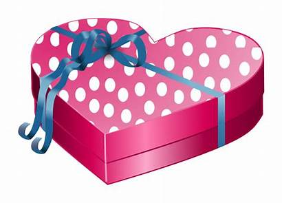 Heart Valentine Gift Wrapped Clip Box Birthday