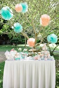 Vert D Eau Couleur : d co de table en menthe vert d 39 eau et p che couleur ~ Mglfilm.com Idées de Décoration