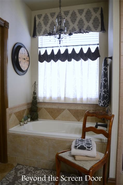 master bathroom makeover   window treatment sonya