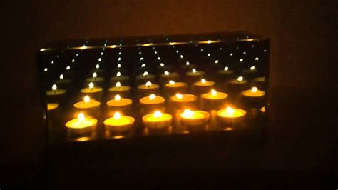infinity mirror candle box  candle youtube