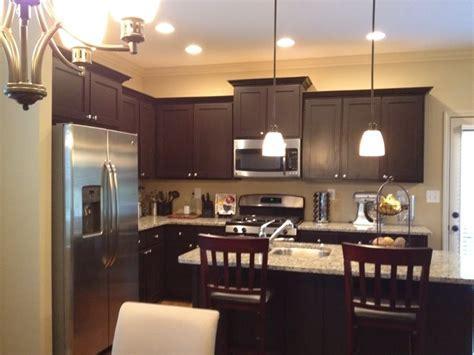 espresso color kitchen cabinets white spring granite with espresso cabinets and mini