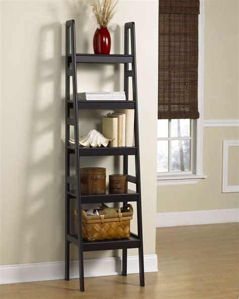 Leaning Bookshelf by Leaning Ladder Bookshelf Homesfeed