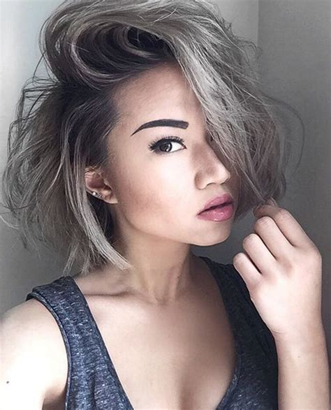 short grey hair styles short hairstyles haircuts