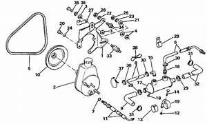 Omc Stern Drive Power Steering Pump Parts For 1988 4 3l
