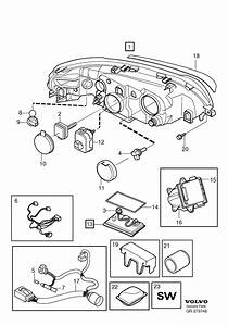 Volvo S60 Wiring Harness  Active Gas Discharge Lamp
