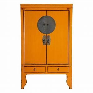 Armoire De Mariage Chinoise Orange Mandarin Maisons Du Monde