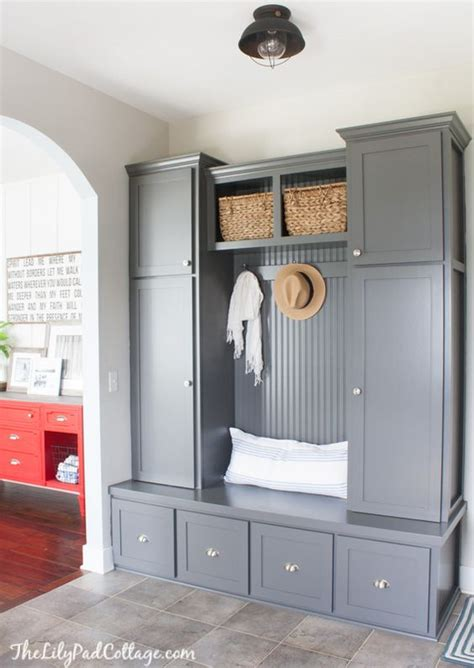 grey mudroom cabinets paint colors mudroom cabinets and