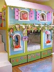 Ideen Kinderzimmer Mädchen : die 25 besten ideen zu m dchen bett auf pinterest ~ Lizthompson.info Haus und Dekorationen