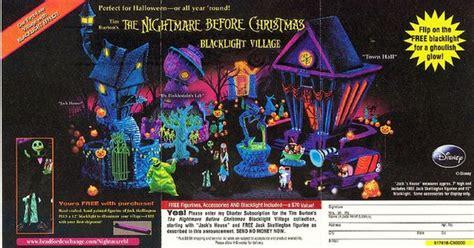 nightmare  christmas black light village set