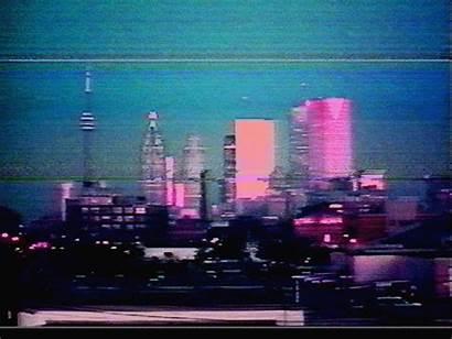 Vaporwave Japan Futuristic Future Cities Asian Bigger