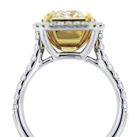 5ct fancy yellow radiant cut engagement ring