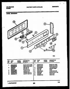 Kelvinator Rer406gw3 Electric Range  5995232872  Parts And Accessories At Partswarehouse