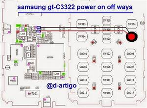 Samsung C3322 Power Button Key Ways Jumper