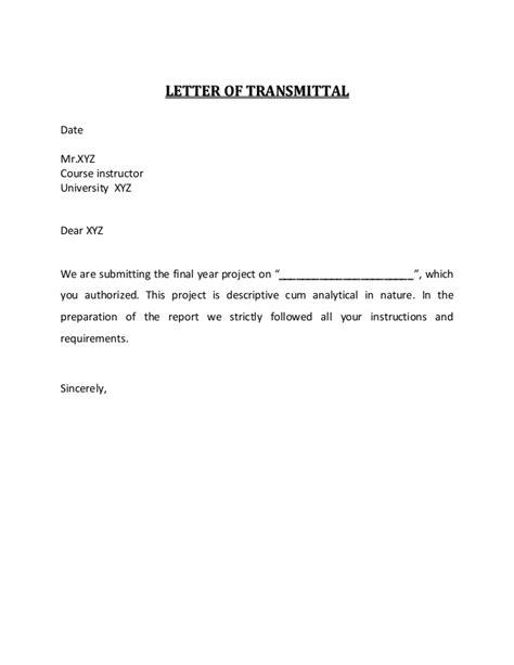 letter  transmittal  acknowledgement