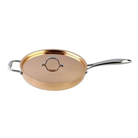 le chef  ply copper saute pan  copper lid   qt trust    great click