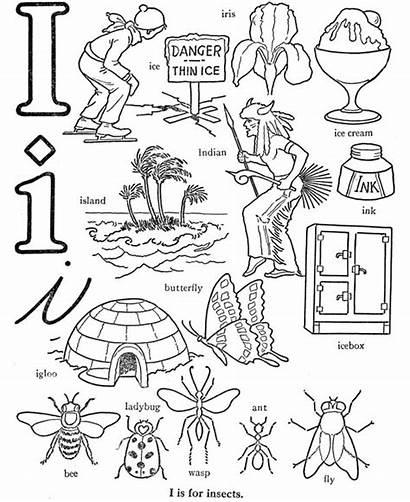 Letter Words Coloring Pages Alphabet Preschool Abc