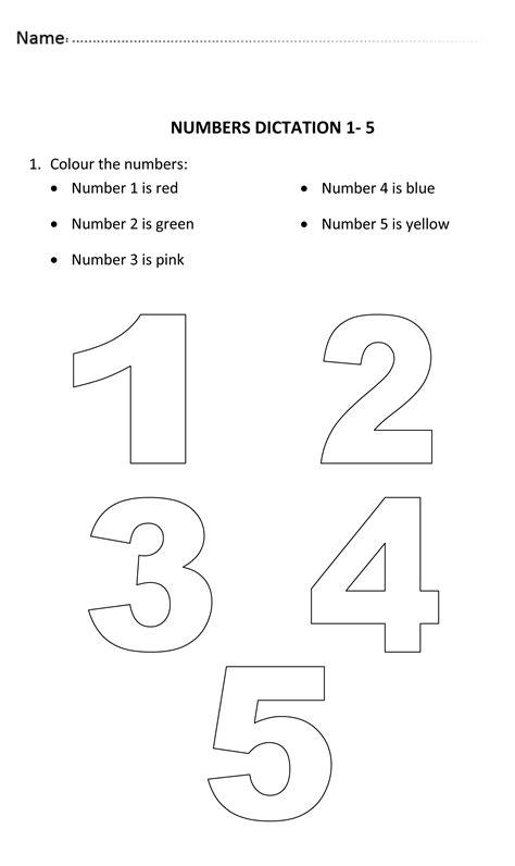 numbers dictation     years  numberworksheet