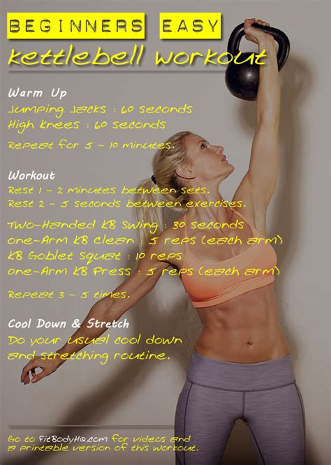 workout beginners guide kettlebell kettlebells workouts fitbodyhq print