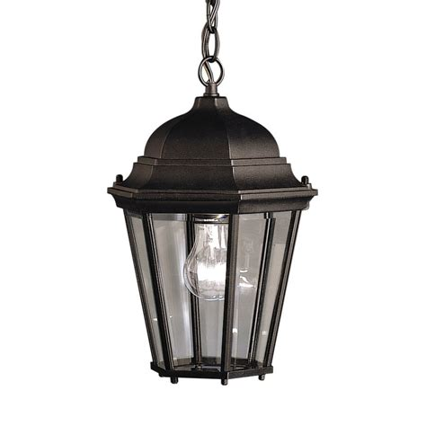 lantern pendant light black shop kichler madison 13 5 in black outdoor pendant light
