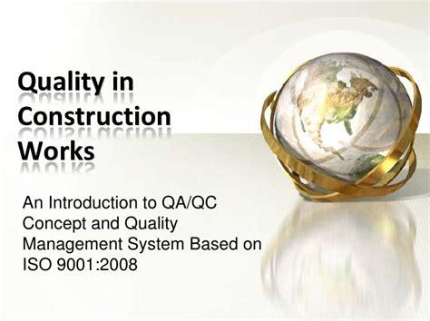 quality management  construction