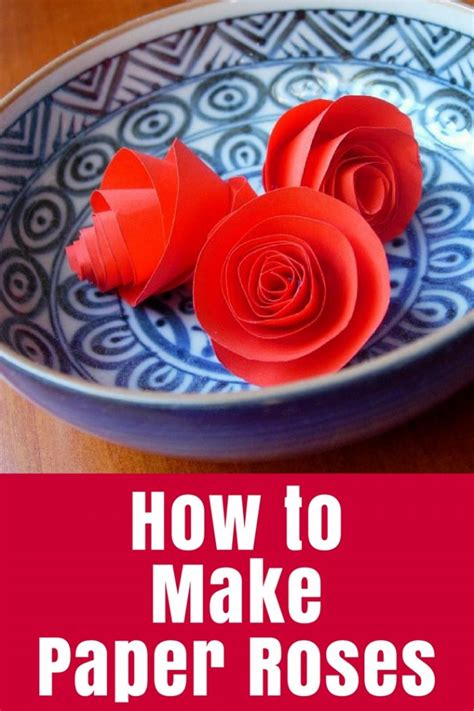 How To Make Paper Roses • The Crafty Mummy