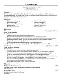 creating a voice resume best affairs specialist resume exle livecareer