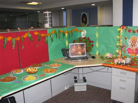 cubicle decoration themes in office for diwali my own space november 2010