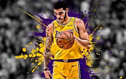 Basketball Player Purple Lakers Ball Lonzo Yellow