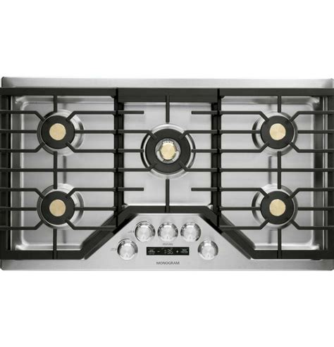 ge monogram zgueslss  smart gas cooktop dual flame burners bluetooth wifi ge