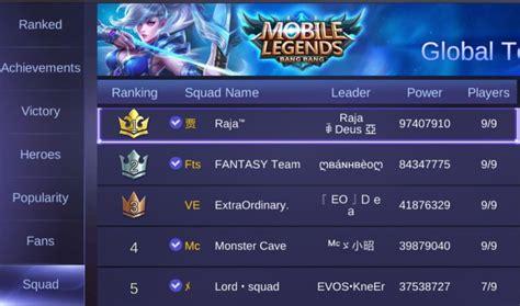 nama squad mobile legend keren ini dia penjelasan lengkap 7 leaderboard di mobile legends