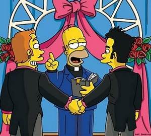 Simpsons gay wedding episode