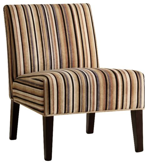 homelegance lifestyle armless accent chair in multi