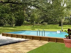 Piscine Semi Enterré Bois : combien coute piscine creuse une piscine semi enterre ~ Premium-room.com Idées de Décoration