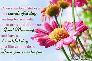Good Morning Message For Girlfriend, Open your beautiful ...
