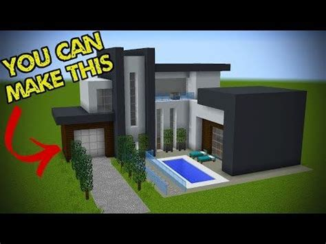 easy steps    minecraft modern house youtube modern minecraft houses minecraft