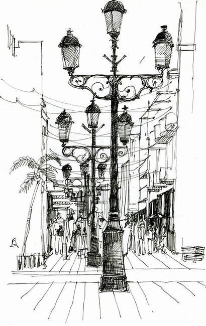 Skizzieren Drawing Conde Sketch Calle Zeichnungen Architektur