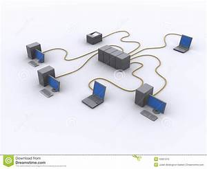 Schema Di Rete Collegato Illustrazione Di Stock  Illustrazione Di Infrastruttura