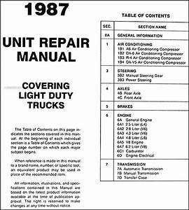 1987 Gmc Truck Overhaul Manual Gas Diesel Engine Sierra