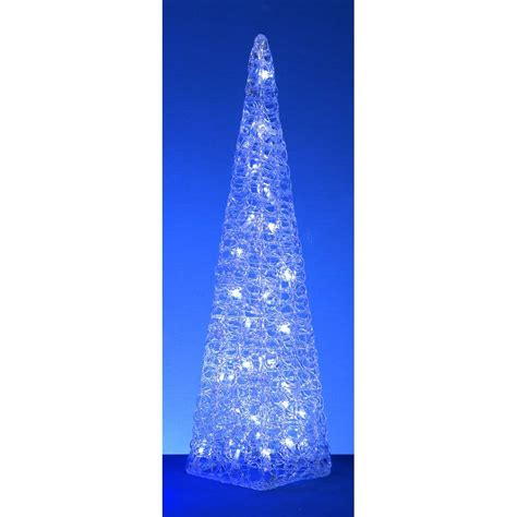 premier decorations cm acrylic cone   white leds
