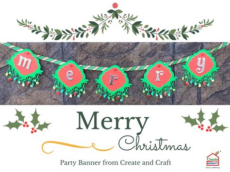 merry christmas party banner create craft usa