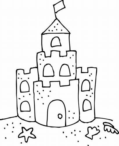 Summer Castle Drawing Camp Preschool Sandcastle Related
